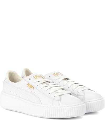 Billig Verkauf Erschwinglich Puma Damen Sneakers Basket Platform aus Leder YyxthUE