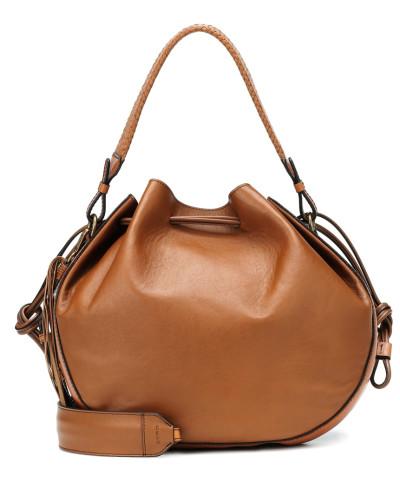 Bucket-Bag Medium Bubble aus Leder