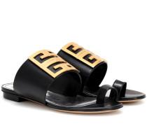 Sandalen 4G aus Leder