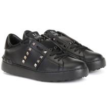 Sneakers Rockstud Untitled Noir aus Leder