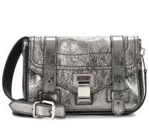 Crossbody-Tasche PS1+ Mini aus Metallic-Leder