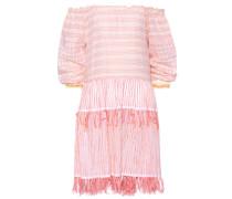 Schulterfreies Kleid mit Fransen