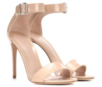 Alexander McQueen Sandalen aus Lackleder