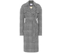 Karierter Mantel Amur aus Wolle