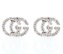 Ohrringe GG aus 18kt Weißgold mit Diamanten