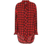 Oversize-Bluse mit Baumwollanteil
