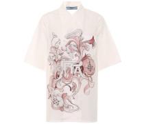 Bedruckte Bluse aus Baumwollpopeline