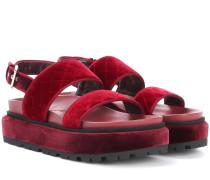 Alexander McQueen Sandalen aus Samt