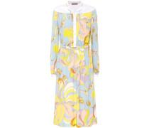 Bedrucktes Jersey-Kleid in Midilänge