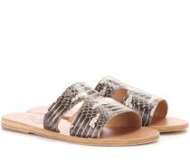 Sandalen Apteros aus Schlangenleder
