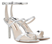 Sandalen Rosalind aus Metallic-Leder