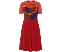 Minikleid aus Woll-Jacquard