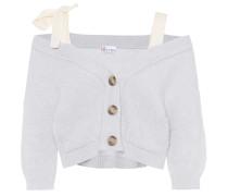 Off-Shoulder-Cardigan aus Wolle