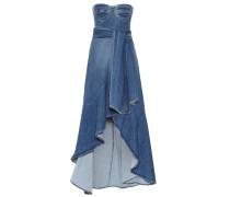 Off-Shoulder-Kleid aus Denim