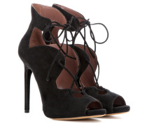 Open-Toe-Pumps Reed aus Veloursleder