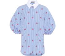 Alexander McQueen Bestickte Bluse aus Baumwolle