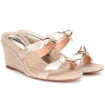 Wedge-Sandalen Clarita aus Leder