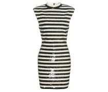 Paillettenverziertes Kleid mit Streifen