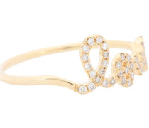 Ring Love aus 14kt Gelbgold mit Diamanten