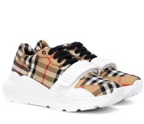 Karierte Sneakers aus Baumwolle