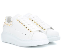Alexander McQueen Verzierte Sneakers aus Leder