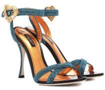 Verzierte Sandalen mit Glitter