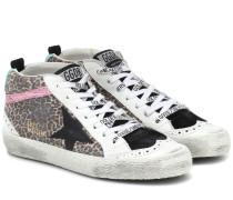 Sneakers Mid Star aus Leder