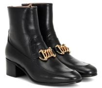 Ankle Boots Horsebit Chain