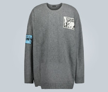 Oversize-Pullover mit Patches