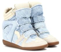 Wedge-Sneakers Bekett aus Denim