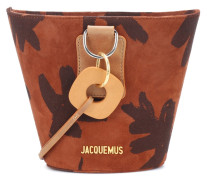 Bucket-Bag Le Sac Praia aus Veloursleder