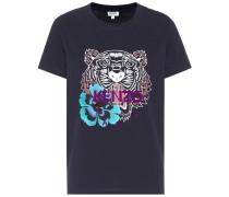 T-Shirt Flower Tiger aus Baumwolle