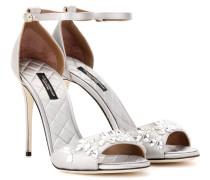 Verzierte Sandaletten Keira aus Satin