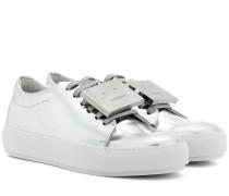 Sneakers Adriana aus Metallic-Leder