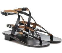 Verzierte Sandalen Jings aus Leder