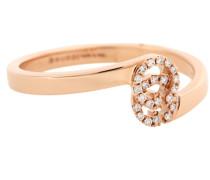 Ring GG aus 18kt Roségold mit Diamanten