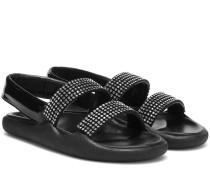 Verzierte Sandalen aus Leder