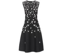 Kleid mit Metallic-Fäden
