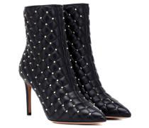 Ankle Boots Rockstud Spike aus Leder