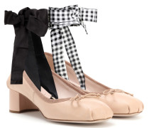 Ballerina-Pumps aus Leder