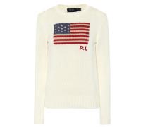 Pullover aus Baumwolle mit Flagge