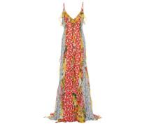Bedruckte Robe aus Chiffon