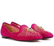 Verzierte Loafers Sunlight aus Veloursleder