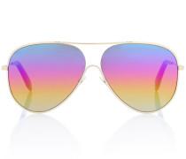 Sonnenbrille Loop Aviator mit bunten Gläsern