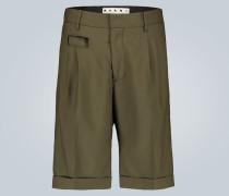 Knielange Shorts aus Wolle