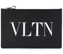 Clutch VLTN aus Leder