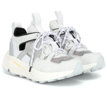 Sneakers Tech mit Lederanteil