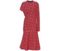 Kariertes Asymmetrisches Kleid