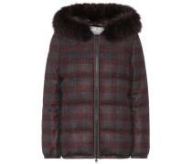 Jacke aus Wolle mit Pelz