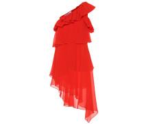 One-Shoulder Minikleid aus Seide
